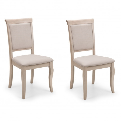 Pair Of Dining Chairs In Pale Oak - Lyon