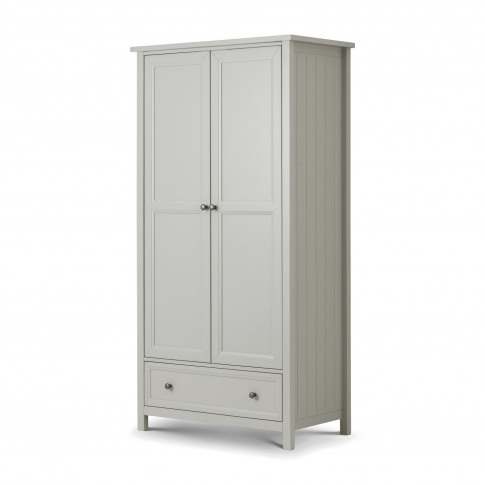 Julian Bowen Maine 2 Door Combination Wardrobe In Grey