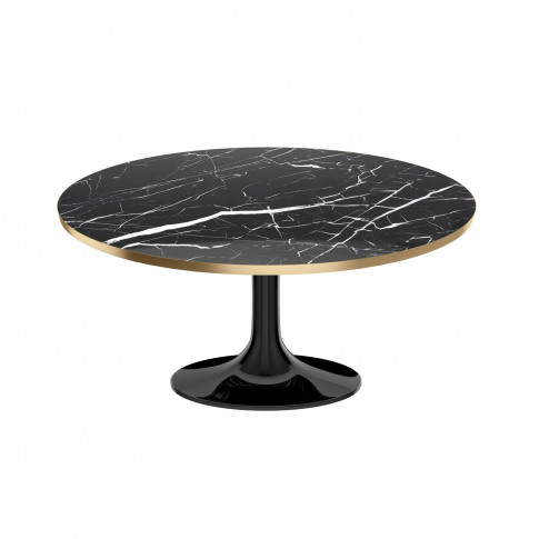 Black Marble Tulip Coffee Table In High Gloss