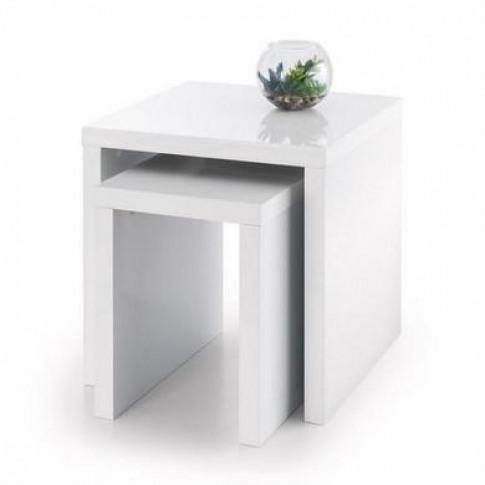 Julian Bowen Metro High Gloss Nest Of Tables White