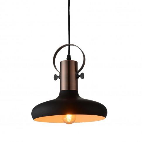 Black & Copper Pendant Light - Industrial - Kingston