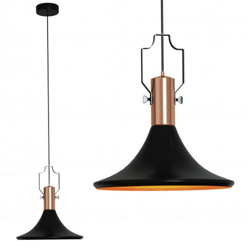 Matte Black Industrial Pendant Light - Jefferson