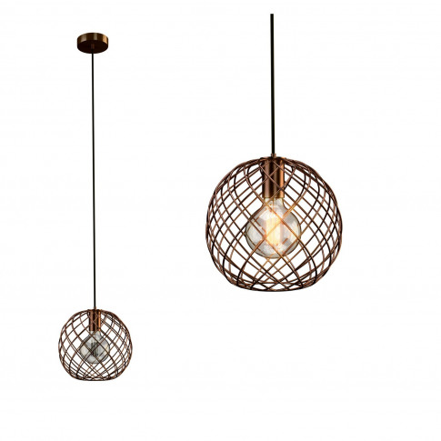 Copper Basket Pendant Light - Metal