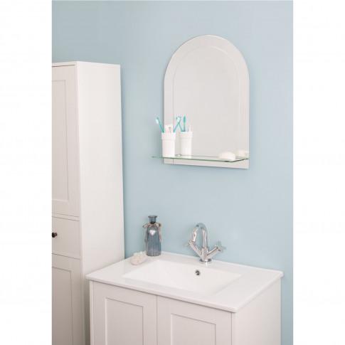 Croydex Fairfield Arch Mirror With Shelf