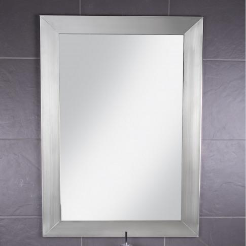Croydex Parkgate  Rectangular Mirror With Brushed St...