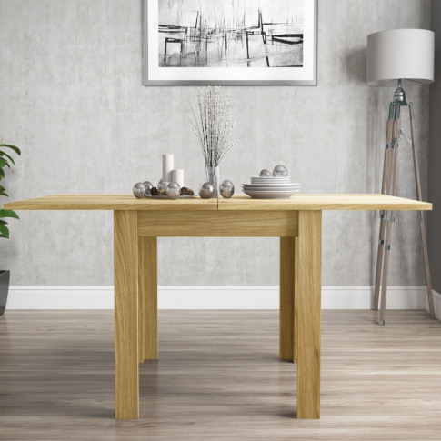 Extendable Flip Top Oak Dining Table - Seats 6 - New...