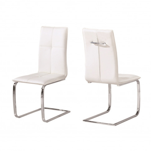 Lpd Matrix Pair Of Cantilever Dining Chairs In White...
