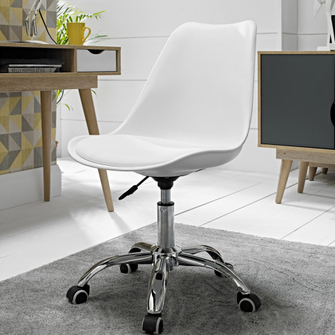 Lpd White Orsen Swivel Office Chair