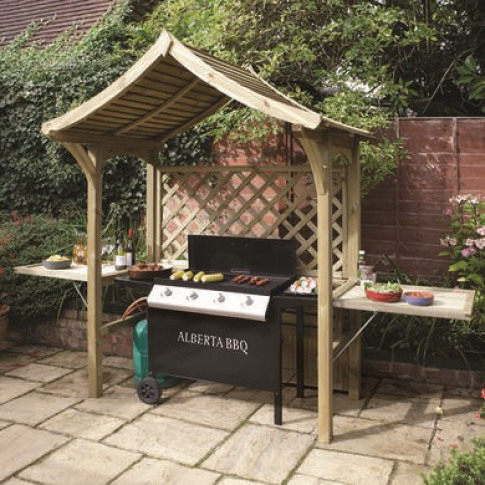 Rowlinson Wooden Party Arbour- BBQ Shelter