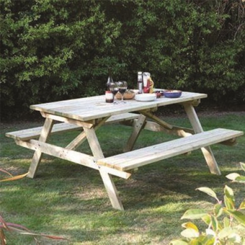 Rowlinson Outdoor 4ft Picnic Bench - Seats 4