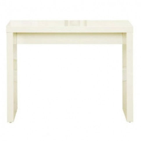 Lpd Puro Console Table In Cream High Gloss