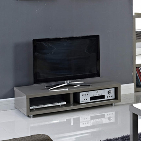 Lpd Puro High Gloss Tv Stand In Grey - Tv's Up To 45