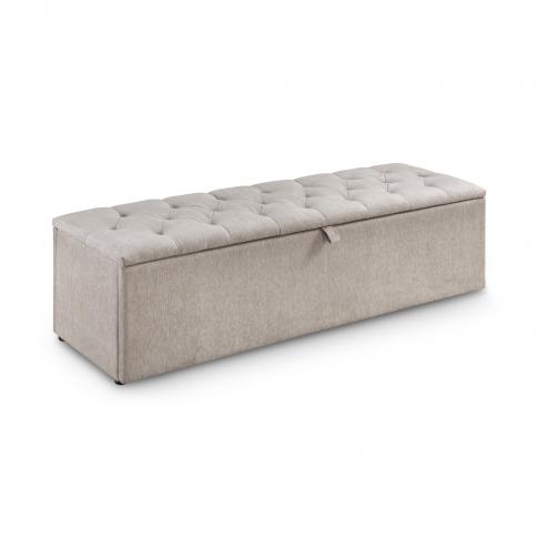 Julian Bowen Ravello Blanket Box In Beige