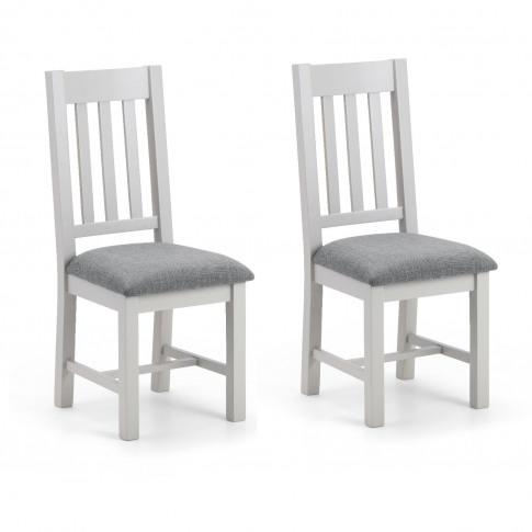 Julian Bowen Pair Of Richmond Grey Dining Chairs