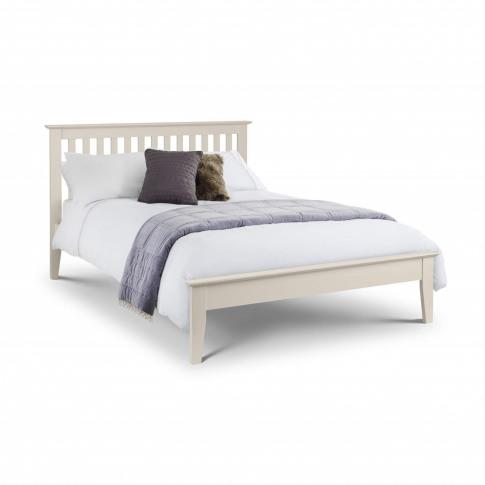 Julian Bowen Salerno Shaker Double Bed Frame In Ivory