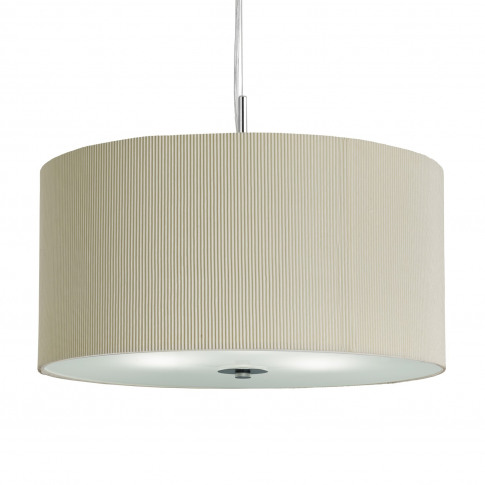 Pendant Light With Cream Fabric Pleat Shade By Searc...