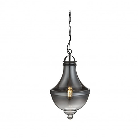 Glass Pendant Light With Smoked Effect - Cairo