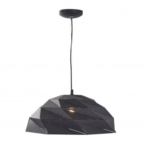 Black Pendant Light With Geometric Shade - Origami