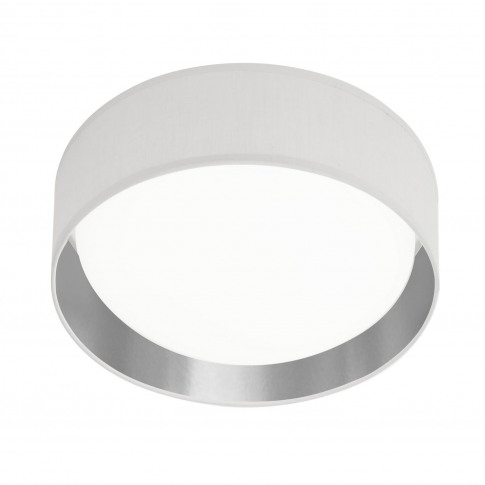 Led Dome Ceiling Light In White & Silver By Searchlight