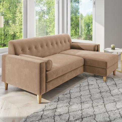 Idris Beige Corner Sofa