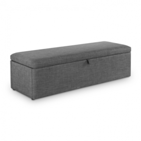 Julian Bowen Sorrento Blanket Box In Grey