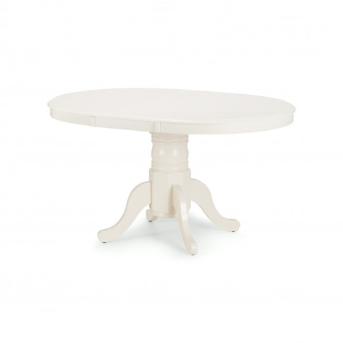Round Extendable Dining Table In Ivory - Seats 6 - Julian Bowen Stamford