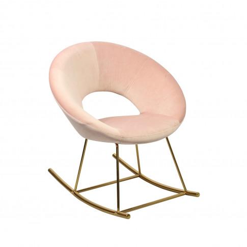 Lpd Stella Occasional Rocking Chair In Vintage Pink