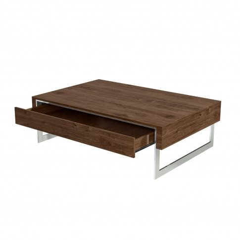 Walnut Coffee Table With Storage Drawer - Tiffany