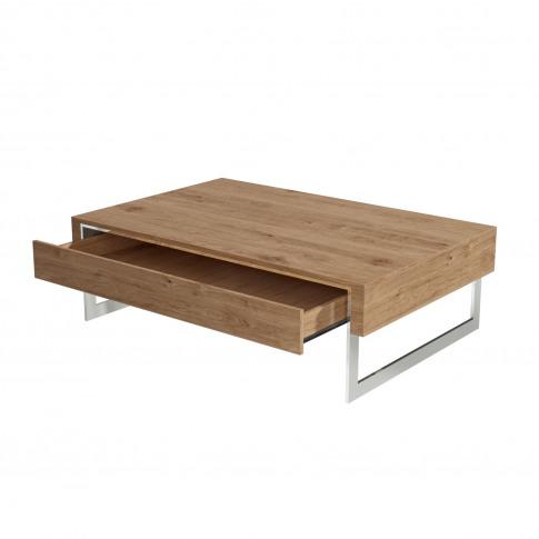 Oak Coffee Table With Storage Drawer - Tiffany