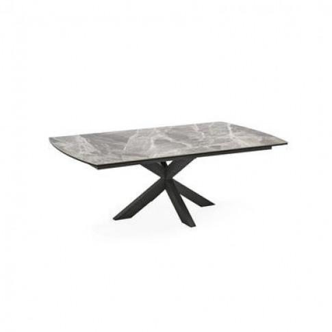 Grey Marble Ceramic Coffee Table - Vida Living-Valerius