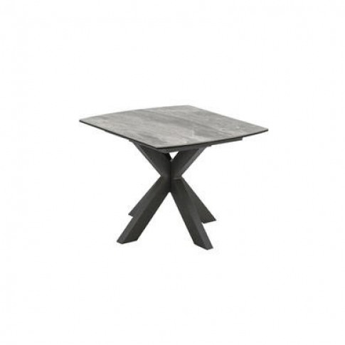 Valerius Grey Marble Side Table With Ceramic Top & M...
