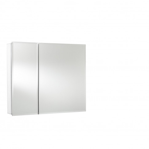 726mm Mirrored Double Door Cabinet Aluminium Bi-View...