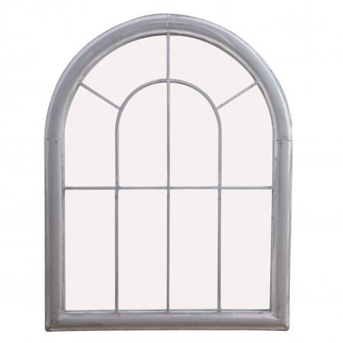 Grey Outdoor Mirror With Church Window Design