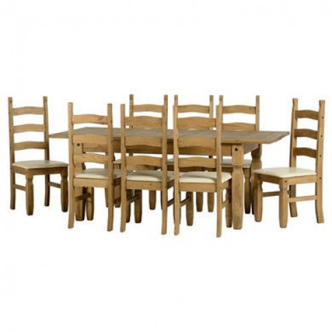 Seconique Corona Extending Dining Table + 8 Dining C...