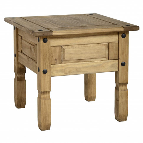 Small Side Table In Pine - Corona