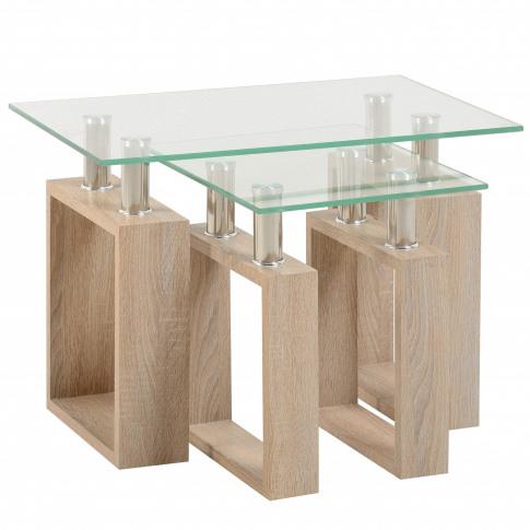 Seconique Milan Nest Of Tables In Sonoma Oak Effect ...