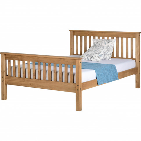 Seconique Monaco Double Bed Frame In Distressed Waxe...