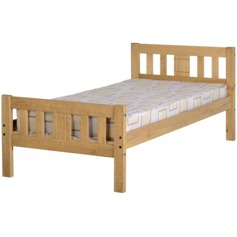 Seconique Rio Single Bed Frame In Distressed Waxed Pine