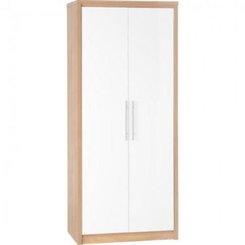 Seconique Seville 2 Door Wardrobe In Oak/White