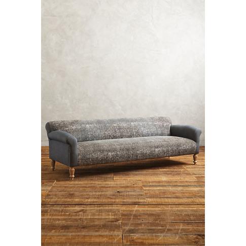 Rug-Printed Sofa - Grey