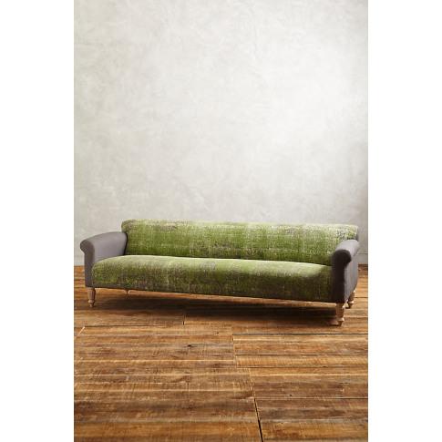 Rug-Printed Sofa - Green