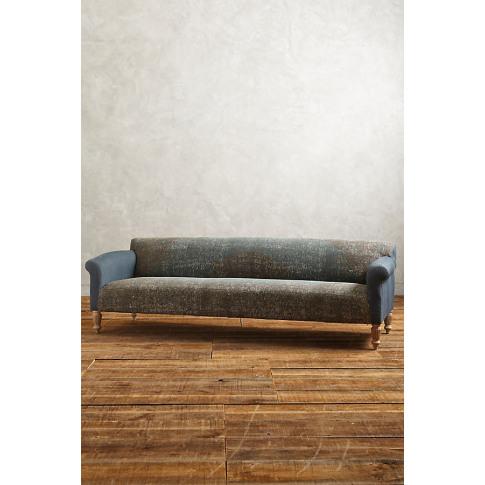 Rug-Printed Sofa - Turquoise