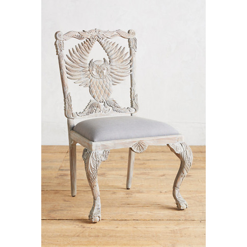 Handcarved Menagerie Armchair - Grey