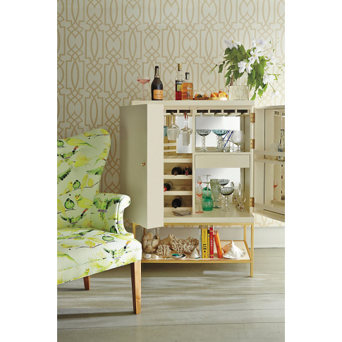 Lacquered Bar Cabinet - Beige