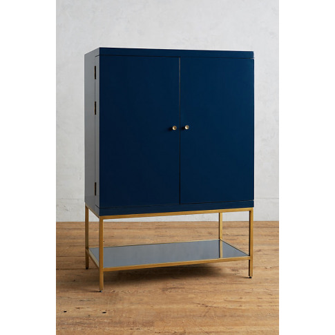 Lacquered Bar Cabinet - Blue