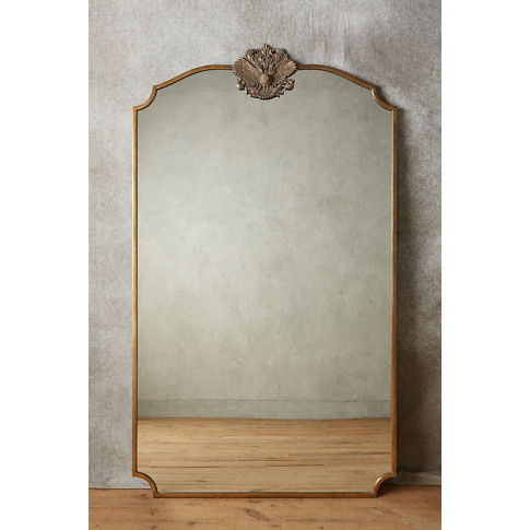 Owl Wooded Manor Mirror - Brown, Size Xl
