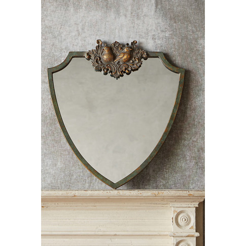 Birds Wooded Manor Mirror - Green, Size S