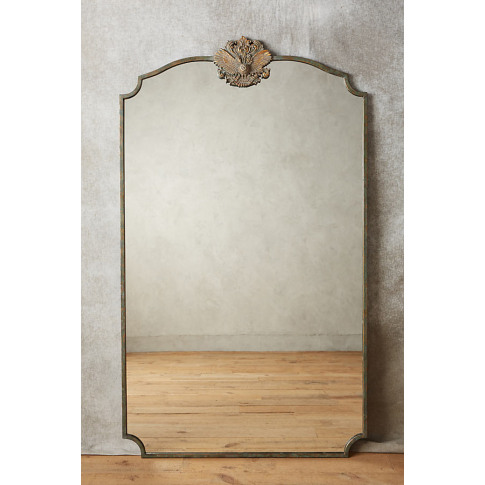 Owl Wooded Manor Mirror - Green, Size Xl
