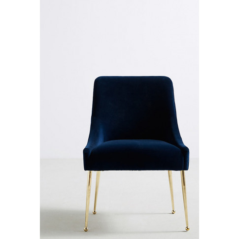 Elowen Dining Chair Without Arm Rest - Blue