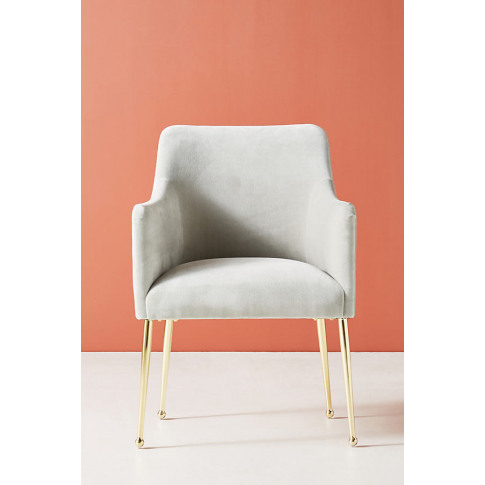 Elowen Dining Chair with Arm Rest - Grey